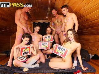 Students make a double penetration party at..