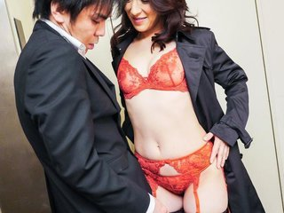 Marina Matsumoto takes office suit off while..
