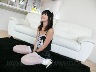 Kotomi Asakura Asian house keeper gets vibrator..