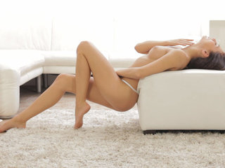 Brunette sweetie Michaela Isizzu uses slow..