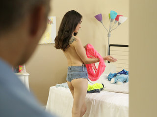Cute chick Jericha Jem gets spanked by her..